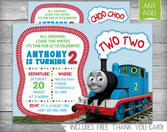 Thomas The Train Invitation | Thomas the Train Birthday | Train Invite | Thomas The Train Party | Thomas The Train Invite