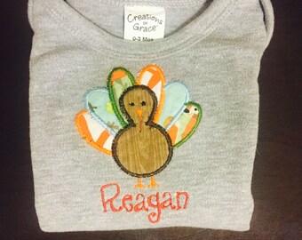 Thanksgiving Embroidered/Monogram Shirt