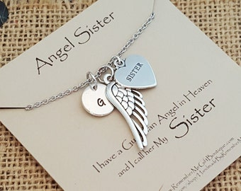 Angel Sister, Loss of Sister, Memorial Necklace, Memorial Gift, Remembrance Jewelry, Sympathy Jewelry, Memorial Jewelry, Sympathy Gift