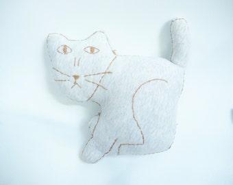 soft grey  cat/snuggle/baby