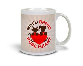 Fun Buttons Mug (11 oz) 'Mixed Breed'