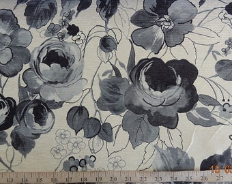 Rose Pattern Fabric in Multiple Colors like Black & White.