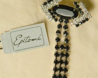 Epitome crystal brooch
