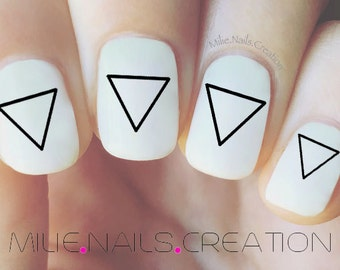 Large Triangle Nail Decal, Geometric Nail Decal