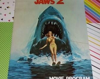 Vintage 1978 Jaws 2 Movie Program
