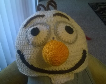 Olaf hat with attached finger wrap
