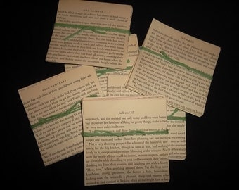 4 X 4 inch Hand Cut, Squares of Vintage Text 40 per package, for Scrapbooks, Journals, Mixed Media, Decor,