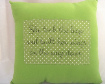 Inspirational quote pillow, throw pillows with words,pillows with sayings,throw pillows green,gifts for her,encouragement gift,