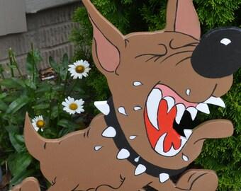 Guard dog lawn stake yard art