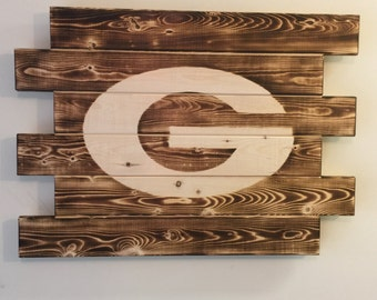 Green Bay Packers wood sign