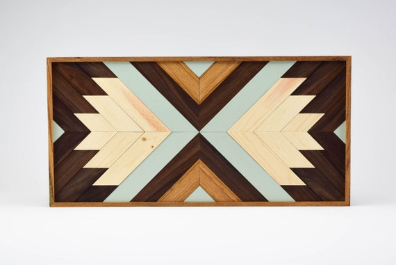 Contemporary Wood Wall Decor : Wood wall art contemporary geometric by