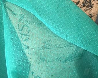 Point D' Esprit Bridal Fabric 1 yard Jade