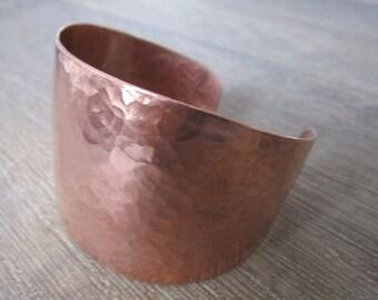 Hammered Copper Cuff Bangle