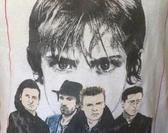 RARE Vintage U2 T- shirt with portraits rare music tees rare u2 tees
