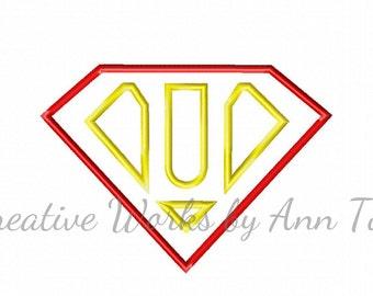 I Am Super Letter U Alphabet Applique