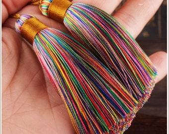 3.14''/ 8cm. OmbreTassels,Silk Tassels,Rainbow Tassels,Mala Tassels,Quality Tassels, Boho Tassels, Craft Supplies, Designer Jewelry Making