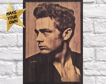 James Dean Movie Star Wood art Wood wall art decor Hollywood celebrity Wood photo Birthday gift for Movie lover gift panel effect wood print