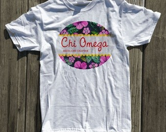 Chi Omega Kaulana Floral T-Shirt