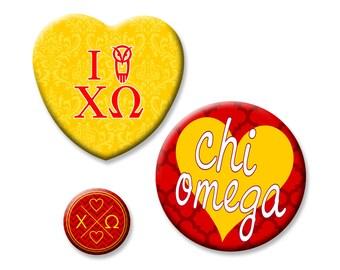 Chi Omega Button Set