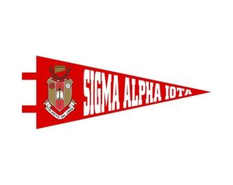 Sigma Alpha Iota Pennant Decal