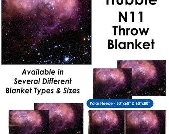 N11 Hubble Image - Throw Blanket