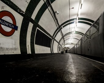 London Fine Art Photo: Aldwych, London Underground , Disused Tube Station, Limited Print,