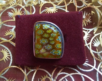 Art Deco 70s style ring 925 sliver.