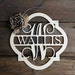 Personalized Door Hanger - Painted Door Hanger - Monogram Wreath