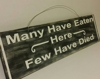 20x5 wooden  sign, custom signs, humerous signs, home decor, restaurant signs, signs for kitchen, handmade signs, handpainted signs