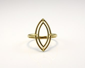 Wire-Frame Marquise Ring - US Size 09 - 3D PRINTED