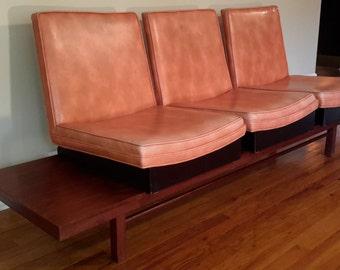 Mid Century Milo Baughman for Thayer Coggin Bench Platform Sofa