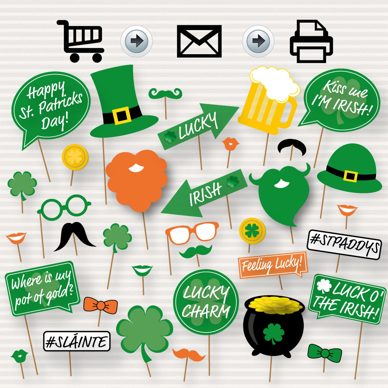 st patrick u0027s day printable photo booth props irish