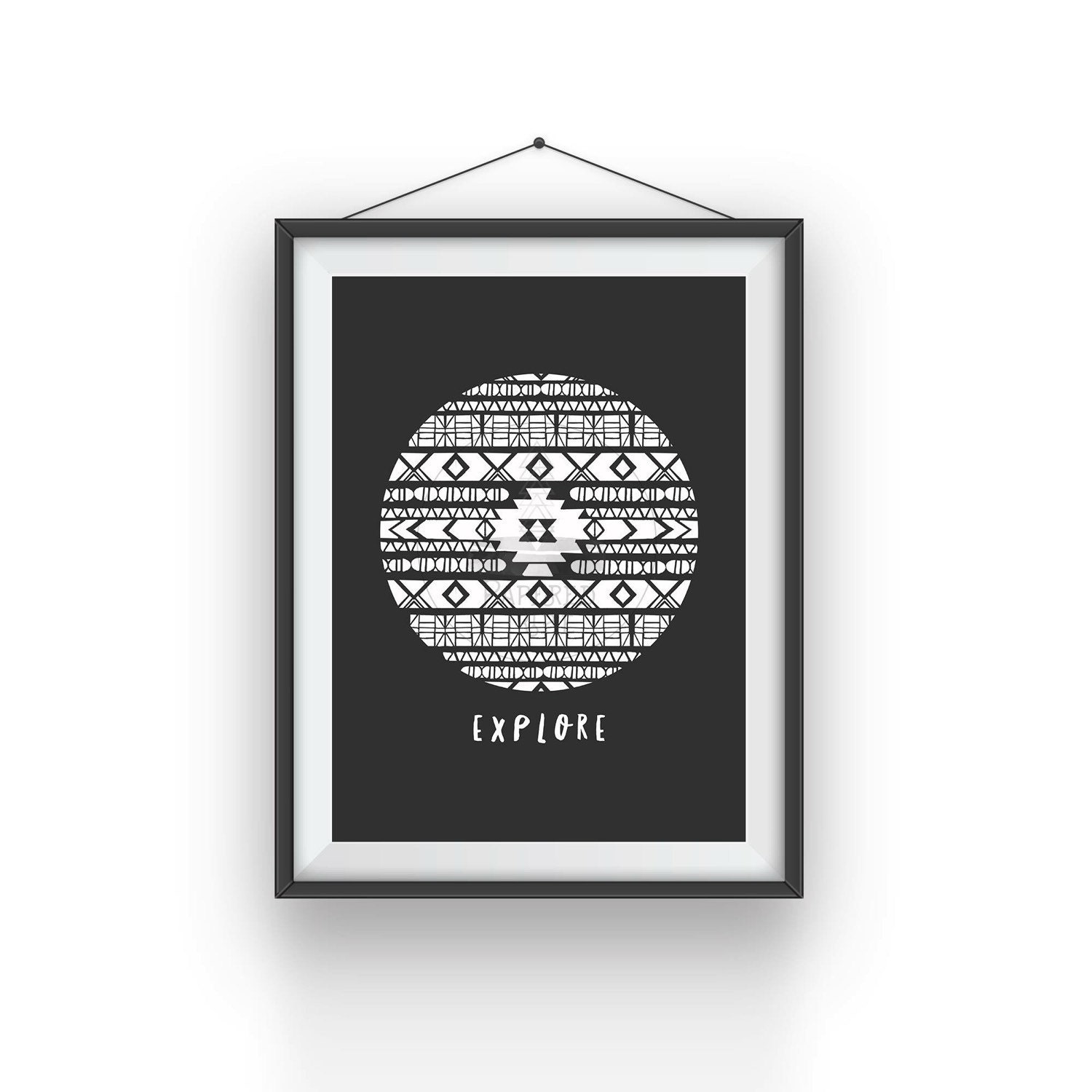 Explore Tribal Design Monochrome