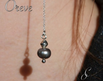 Earrings on silver wire 925 & cultured pearls