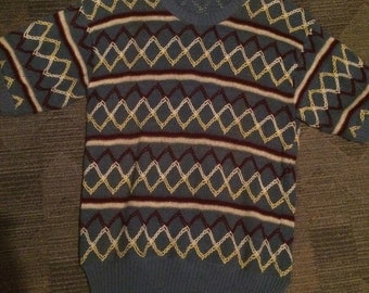 1950s Knitted Shirt / Classic and Rare / Small