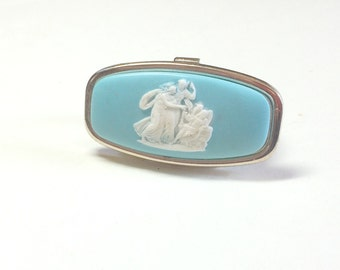 Sweet vintage lipstick compact with mirror vintage lipstick holder vintage lipstick case cameo vintage compact cameo compact Japan 1960s