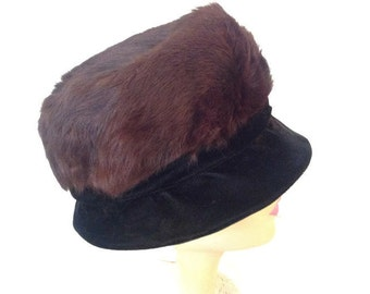 Vintage Women's Fur Hat - Union Made