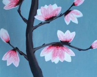 Magnolia Blossom on Canvas Board
