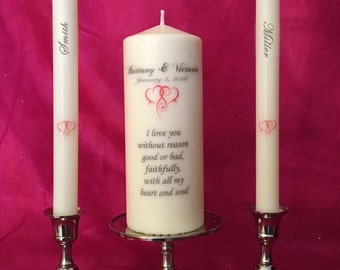 Personalized Unity Candle with Tapers