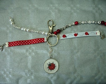 Cabochon lucky keychain or bag charm