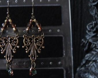 """Earrings """"Sparkling Bronze"""""""