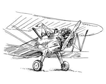 Instant Download Vintage Airplane Print