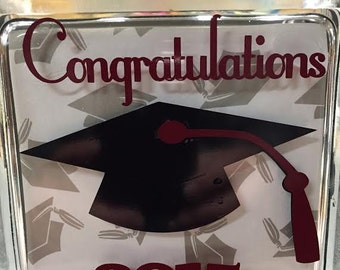 Graduation Glass Block  Lighted