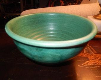 GREEN ART POTTERY Bowl