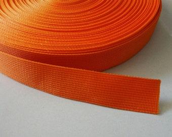 5 Yards, 1.25 inch (3.2 cm.), Polypropylene Webbing, Bright Red, Key Fobs, Bag Straps, Purses Straps, Belts, Tote Bag Handle.