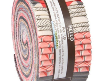 Sale! Fragmental Roll-Up in the Salmon Colorstory by Angela Walters for Robert Kaufman Fabric