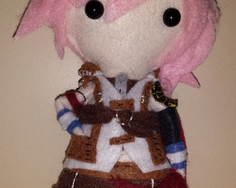 Final Fantasy XIII Inspired Plushie: Lightning