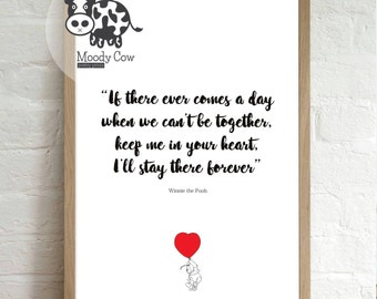 Winnie the Pooh Quote | Winnie the Pooh Print | Winnie the Pooh Quote Print | Love Quotes  | Valentine Gifts | Famous Quotes | Christmas
