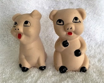 Adorable piglet salt and pepper shakers
