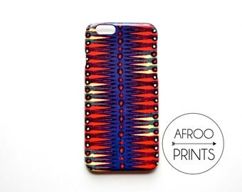 AFROOPRINTS. African Wax VI print iPhone case